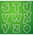 Connections alphabet font set 3 s to z vector
