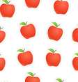 Red apples seamless background vector