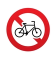 No bicycle sign icon eco delivery family vehicle vector