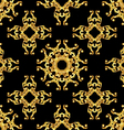 Asian golden pattern on black vector