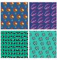 Seamless pattern of doodle cartoon vector