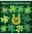 Background for st patricks day with green shamrock vector