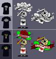 Skeletons t shirt love kills 02 vector