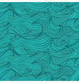 Seamless pattern with hand-drawn waves vector