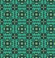 Seamless geometric flowers pattern vector