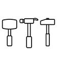Hammer outline vector