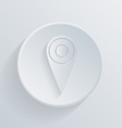 Paper circle flat icon pin location on the map vector