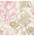 Seamless wallpaper pattern with flowers vector
