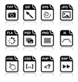 File type black icons - graphic and web design vector