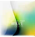 Colorful blurred wave business background vector