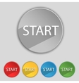 Start engine sign icon power button set of colored vector