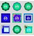 Print sign icon printing symbol set colourful vector