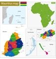 Mauritius map vector