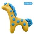 Icon of plasticine toy horse vector