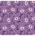 Seamless pink flower lace pattern vector