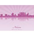 Atlanta skyline in purple radiant orchid vector