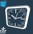 3d square wall clock inverse version included time vector