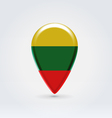 Lithuanian icon point for map vector