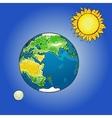 The sun moon earth vector