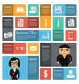 Flat business infographics design elements vector