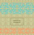 Oriental template vector