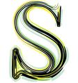 Font letter s vector