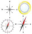 Compass in parts vector