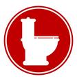 Toilet button vector