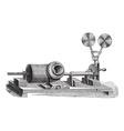 Gramophone vintage engraving vector