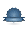 Jeans badge vector