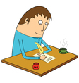 Man writing letter vector