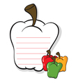 A bell pepper shaped stationery vector