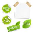 Eco labels set vector