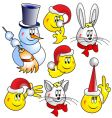 Snowman cat hare rabbit vector