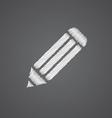 Pencil sketch logo doodle icon vector