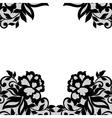 Black flower lace ornament vector