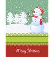 Winter celebration card vector