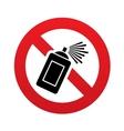 No graffiti spray sign icon aerosol paint symbol vector