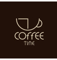 Coffee time concept design template vector