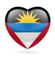 Heart icon of antigua and barbuda vector