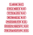 Usa holidays rubber stamps vector