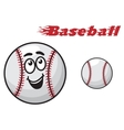 Baseball cartoon ball vector