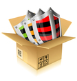 Cardboard box with shield safety vector