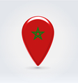 Mooroccan icon point for map vector