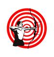 Archer bow arrow target vector