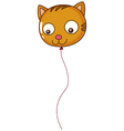 A big cat balloon vector