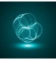 Futuristic - conceptual virus vector