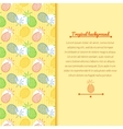 Pineapple background vector