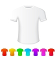 Isolated t-shirt on white background with set of vector