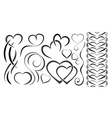 Set of elements design for valentines day hearts vector